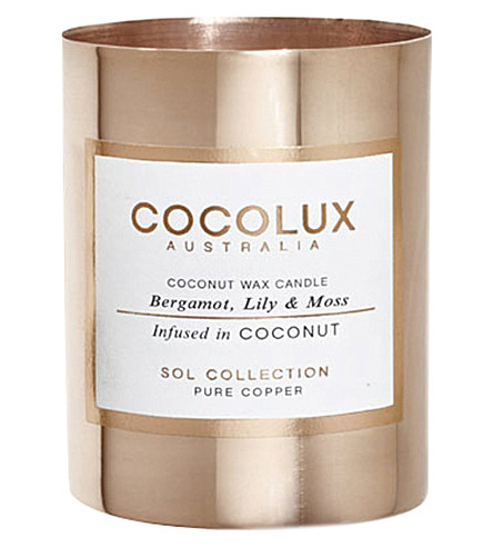 COCOLUX Bergamot lily moss copper candle 150g