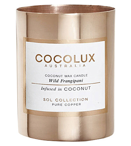 COCOLUX Wild frangipani copper candle 150g