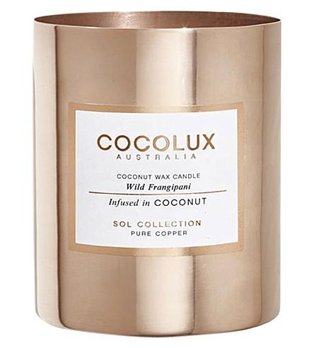 COCOLUX Wild frangipani copper candle 350g