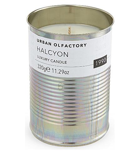 URBAN OLFACTORY Halcyon 1990 luxury tin candle
