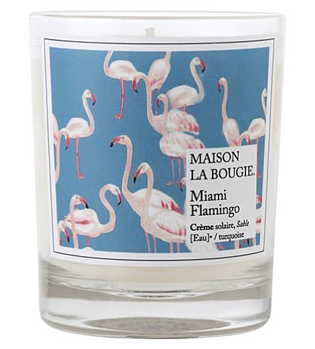 Maison la bougie miami flamingo scented candle - La maison de la bougie ...