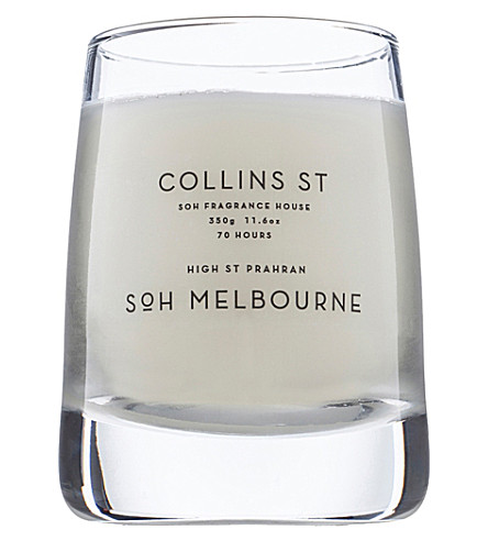 SOH MELBOURNE Collins st glass scented candle