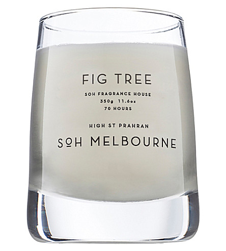 SOH MELBOURNE Fig Tree glass scented candle