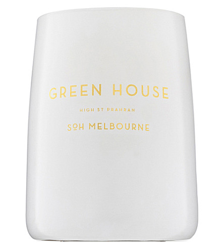 SOH MELBOURNE Green house white glass scented candle