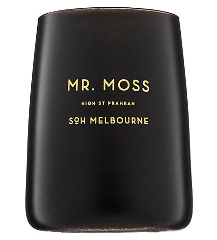 SOH MELBOURNE Mr Moss black glass scented candle
