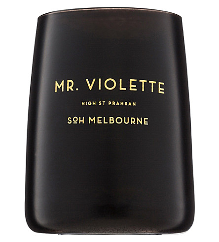 SOH MELBOURNE Mr Violette black glass candle