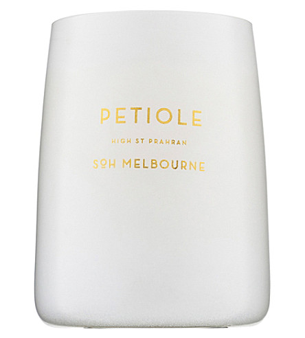 SOH MELBOURNE Petiole white glass scented candle