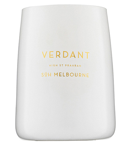SOH MELBOURNE Verdant white glass scented candle 350g