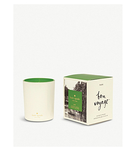 KATE SPADE NEW YORK Bon Voyage Park scented candle 142g