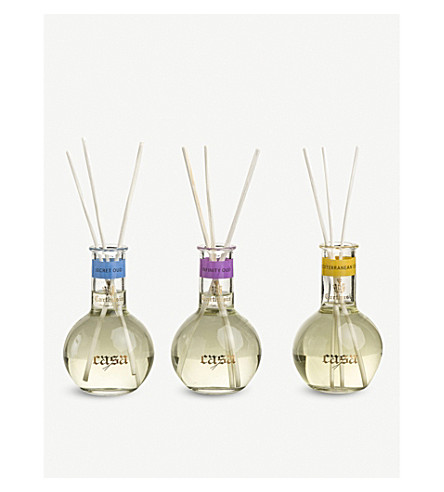 CARTHUSIA Oud home fragrance diffusers set of three x 100ml