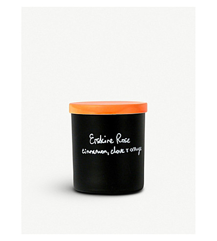 ERSKINE ROSE Cinnamon, clove and orange scented candle