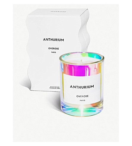 OVEROSE Anthurium holographic scented candle 220g