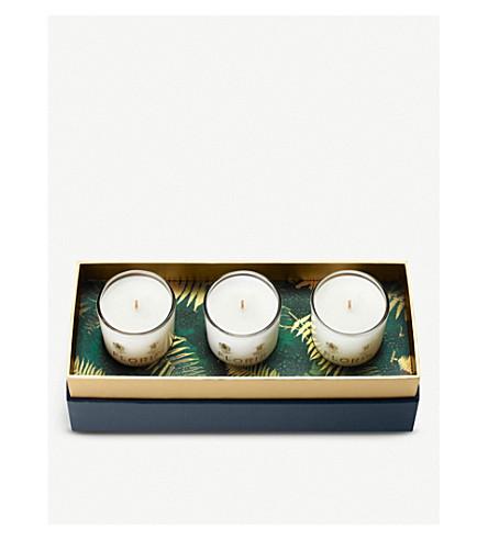 FLORIS Miniature Winter Scented Candle Trio 3 x 70g