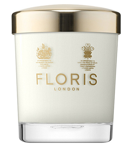 FLORIS Cinnamon & tangerine scented candle 175g