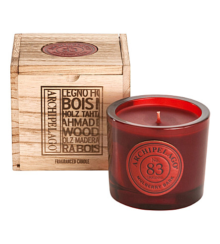 ARCHIPELAGO Mulberry bark boxed soy candle