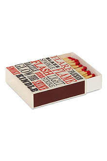 ARCHIVIST Flame text matchbox