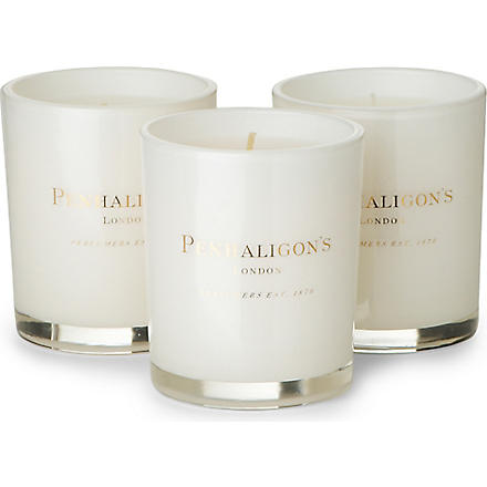 PENHALIGONS Box of 3 tea candle collection