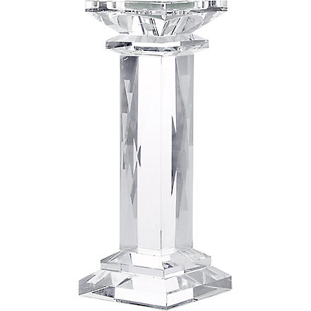 KENNETH TURNER Chunky Crystal Pillar Candle Holder 35cm