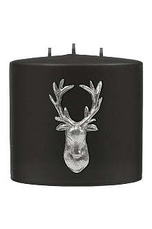 KENNETH TURNER Stag three-wick candle 12cm black