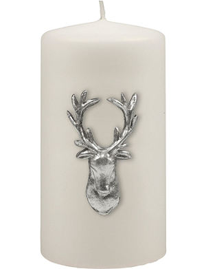 KENNETH TURNER Stag pillar candle 13cm