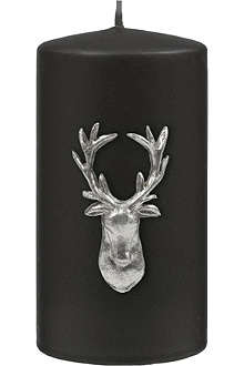 KENNETH TURNER Stag pillar candle black 13cm