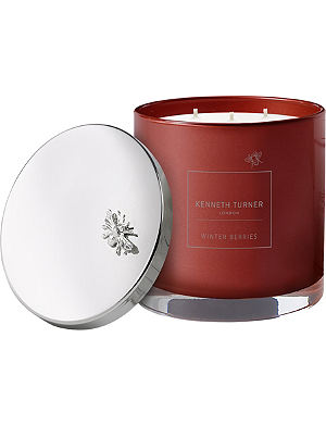 KENNETH TURNER Winter berries three-wick scented candle