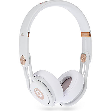 Limited edition rose gold Mixr headphones