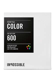 THE IMPOSSIBLE PROJECT Colour Instant Film for Polaroid 600-type cameras single pack