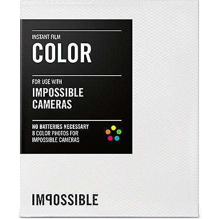 Colour Instant Film for Impossible Cameras