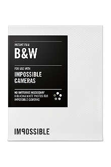 THE IMPOSSIBLE PROJECT Black & White Instant Film for Impossible Cameras