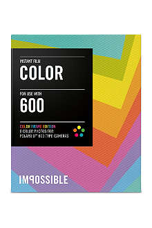 THE IMPOSSIBLE PROJECT Colour Frame Edition Instant Film for Polaroid 600-type cameras single pack