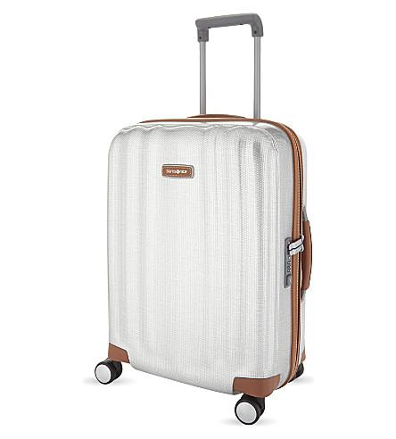 SAMSONITE Lite-Cube DLX four-wheel spinner suitcase 55cm (Aluminium