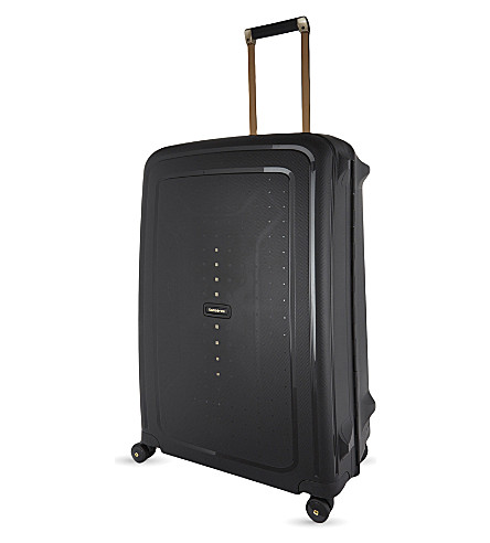 SAMSONITE Scure four-wheel spinner suitcase 75cm (Black/gold