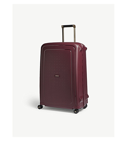SAMSONITE S'Cure four-wheel spinner suitcase 75cm (Burgundy/gold+deluscious