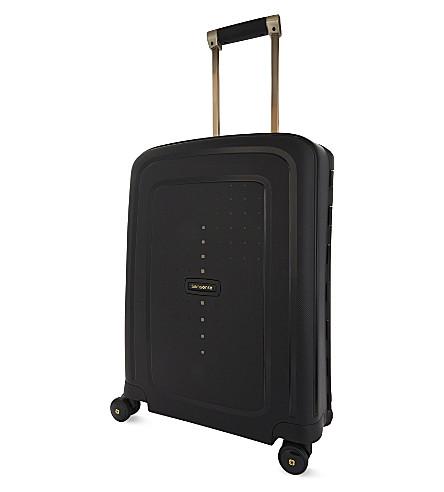 SAMSONITE S'Cure DLX four wheeled suitcase 55cm (Black/gold