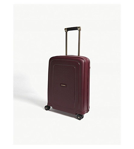 SAMSONITE S'Cure DLX four wheeled suitcase 55cm (Burgundy/gold+deluscious