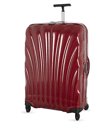 SAMSONITE Lite-Locked four wheel spinner suitcase 69cm (Red