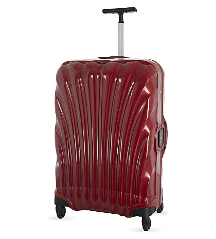 SAMSONITE Lite-Locked four wheel spinner suitcase 75cm (Red