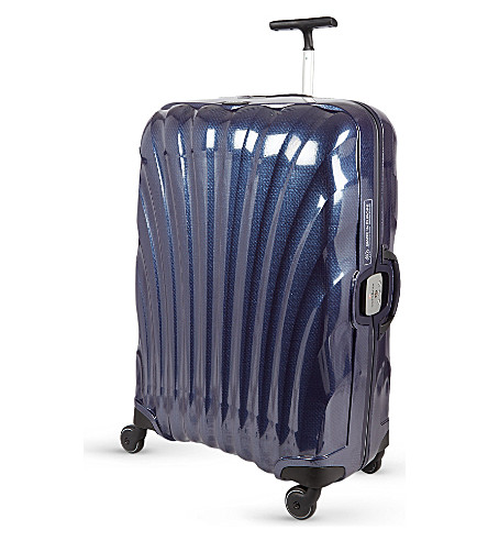 SAMSONITE Litelocked four-wheeled spinner suitcase 69cm (Navy+blue