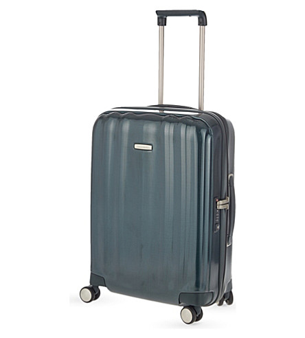 SAMSONITE Lite-Cube four-wheel cabi suitcase 55cm (Dark+green