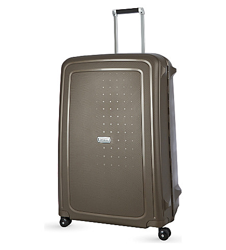 SAMSONITE S'cure DLX four-wheel spinner suitcase 81cm (Bronze