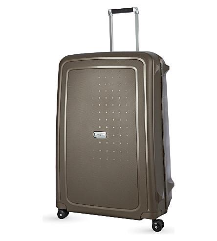 SAMSONITE S'cure DLX four-wheel spinner suitcase 81cm (Bronze