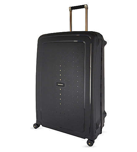 SAMSONITE S'Cure DLX spinner suitcase 81cm (Black/gold