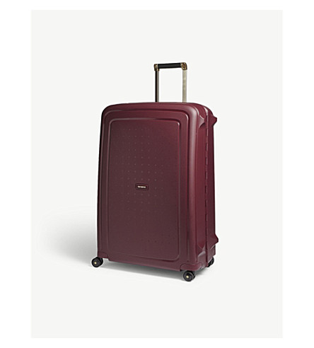 SAMSONITE S'Cure DLX spinner suitcase 81cm (Burgundy/gold+deluscious