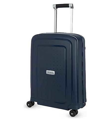 SAMSONITE S 的治疗 DLX 微调55四轮式手提箱 (午夜 + 蓝色