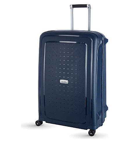 SAMSONITE S'cure Spinner four-wheel suitcase 81cm (Midnight+blue