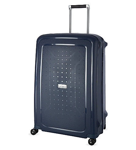 SAMSONITE Lite-Biz four-wheel cabin suitcase 55cm (Midnight+blue