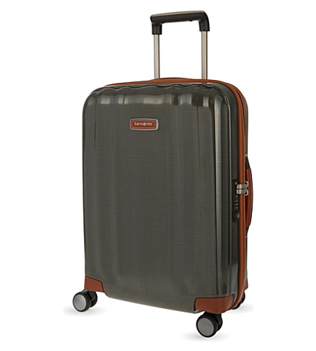 SAMSONITE Lite-Cube DLX four-wheel cabin suitcase 55cm (Dark+olive