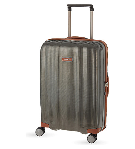 SAMSONITE Lite-Cube DLX four-wheel suitcase 68cm (Dark+olive