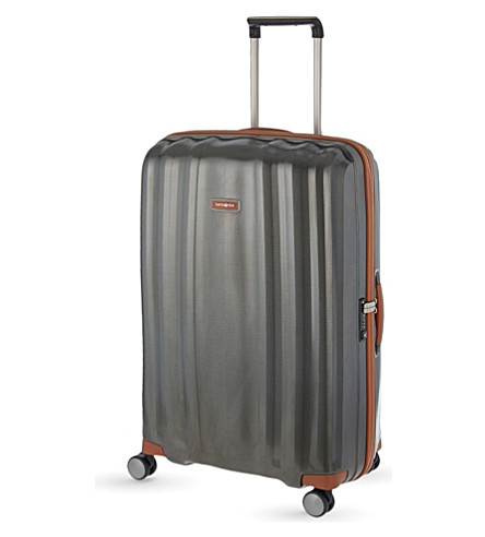 SAMSONITE Lite-Cube DLX four-wheel suitcase 76cm (Dark+olive